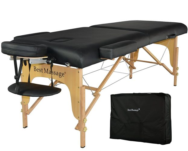 BestMassage Portable Massage Table 3-Fold 84-inches Long