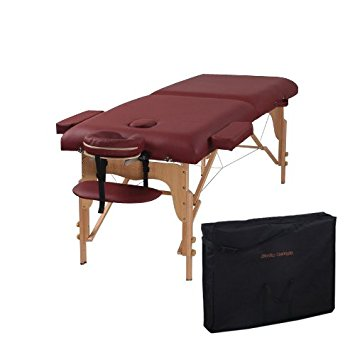 Heaven Massage Burgundy two-fold Portable Massage Table