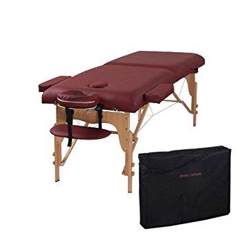Heaven Massage Burgundy two-fold Portable Massage Table