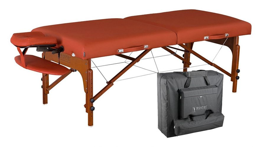 Master Massage Santana Therma Top Memory Foam Portable Massage Table Package