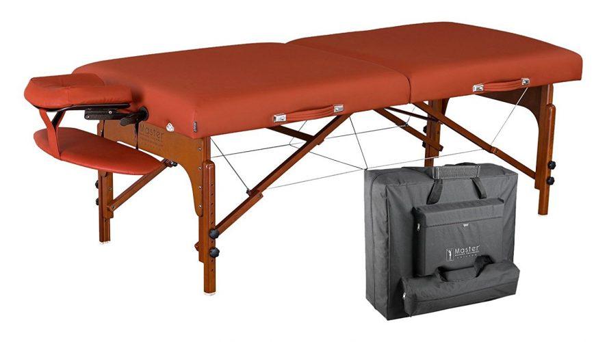 Master Massage Santana Therma Top Memory Foam Portable Massage Table Package