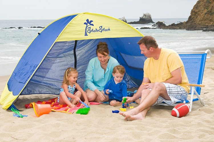 Shade Shack Instant Pop Up Family Beach Tent and Sun Shelter by Demco Incorporated