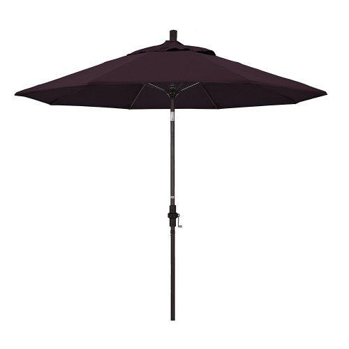California Umbrella with Fiberglass Rib Bronze Pole Crank