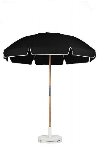 Frankford Umbrellas 7.5 ft. Fiberglass Rib Commercial Grade Umbrella with Ash Wood Pole/Sand Anchor