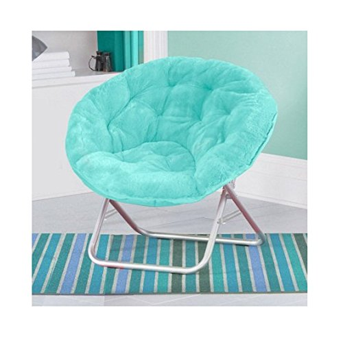 Luxury Padded Faux-Fur Saucer Chair