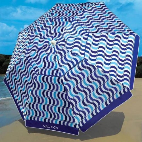 Nautica 7 Foot Beach Umbrella – Blue