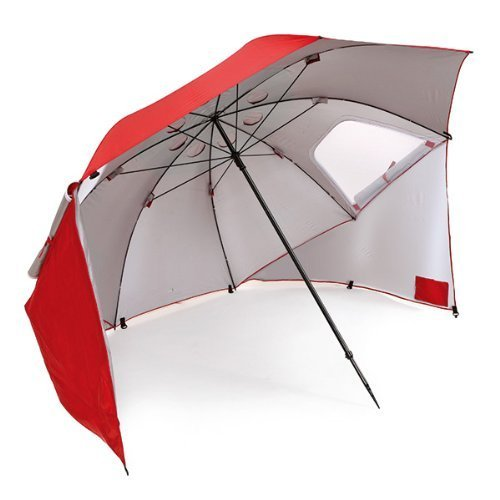 Sport-Brella Portable All-Weather and Sun Umbrella. 8-Foot Canopy (Red)