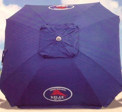 Tommy Bahama 7 Foot Beach Umbrella 2013 w/Tilt, Wind Vent, Sand Anchor, SPF/UPF100 – color choice