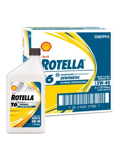 The T6 5W-40 Shell Rotella Artificial Diesel Engine Oil
