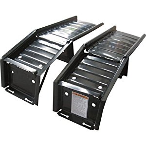 Detachable Steel Car Ramps - Set of Two 2,500-Lb. Capacity Ramps