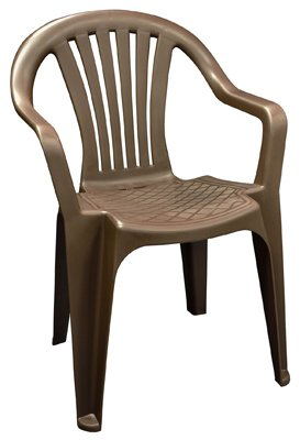 ADAMS MFG 8234 60  3704 Low Back Chair, Brown   Plastic Chairs