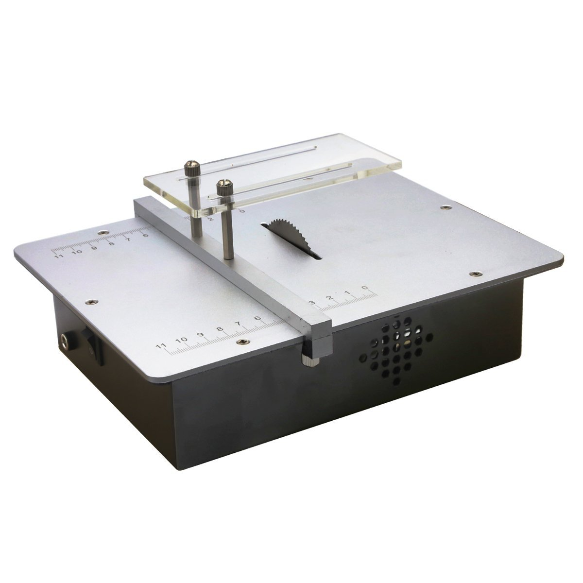AMPSEVEN Micro Mini Table Saws Pcb Acrylic Cutting Machine Simple Metal Model Sawing Woodworking Saw - Mini Table Saws