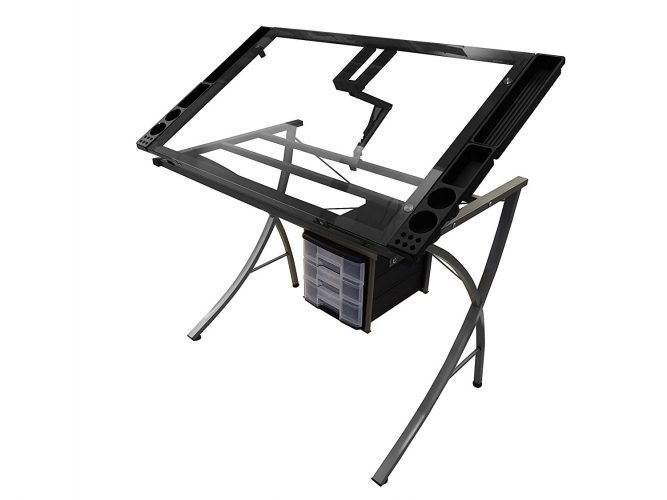 Artie's Studio Office Drafting Table Art Drawing Adjustable Craft Station - Drawing Table