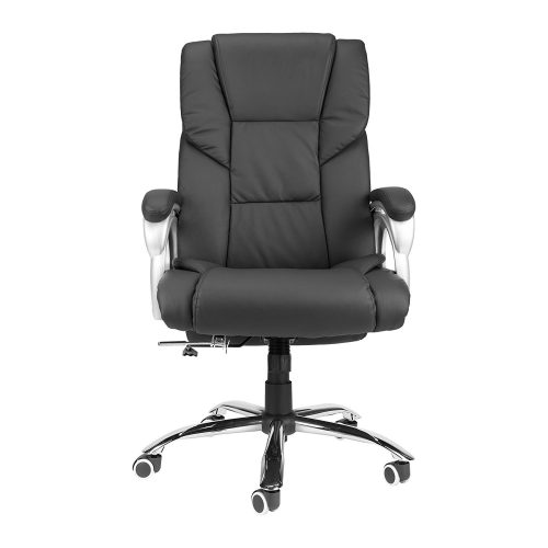 CO-Z Wide Seat 350lbs Load Capacity High Back PU Executive Home Reclining Swivel Office Chair - Reclining Office Chair