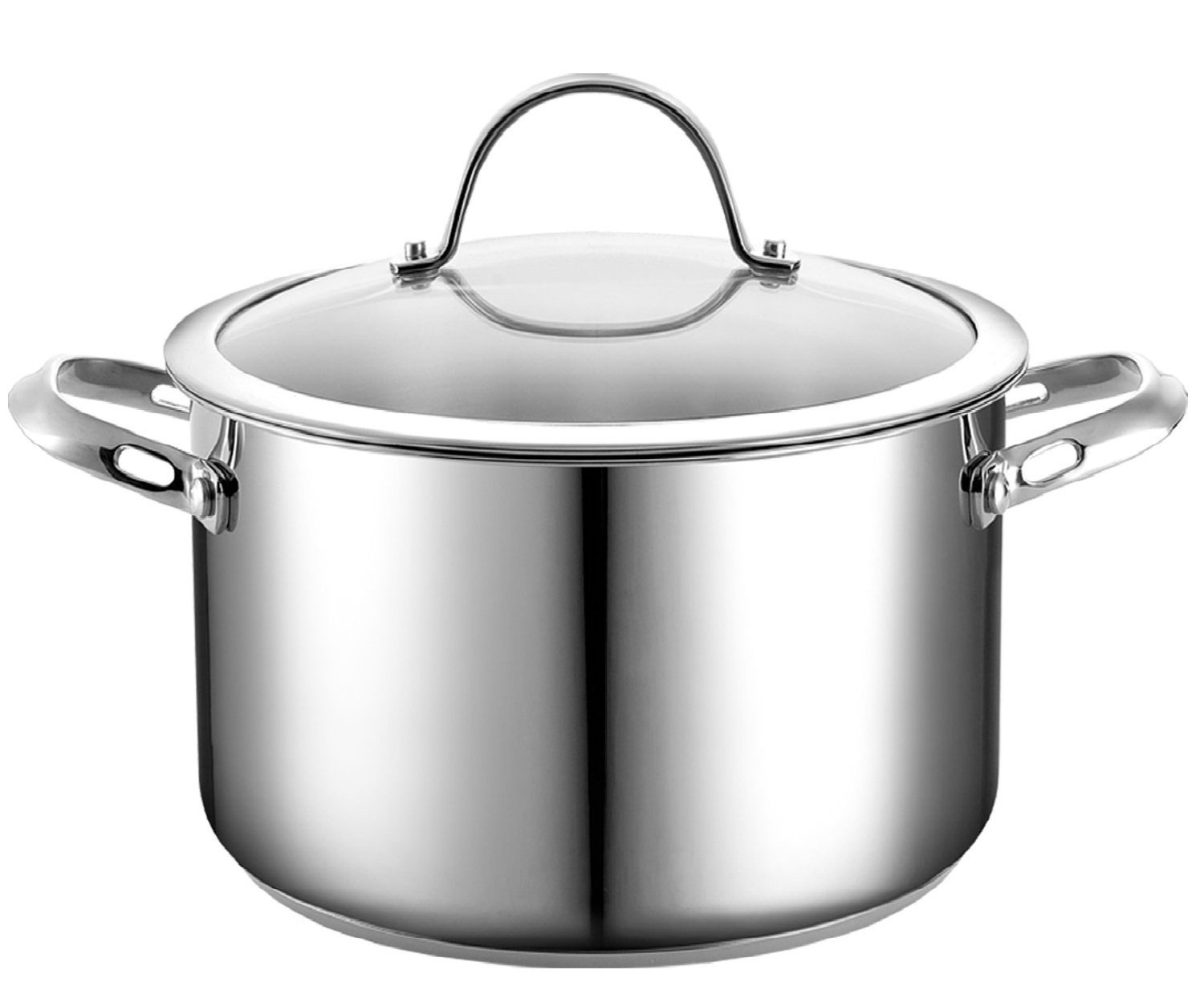 Cooks Standard Stainless Steel Stockpot with Cover, 6-Quart - Stainless Steel Pot