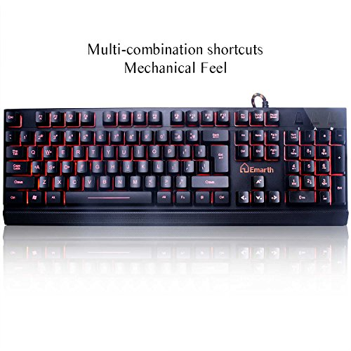Emarth Wired Gaming Keyboard-Backlit Keyboards