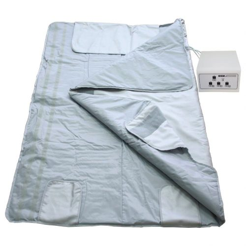 Gizmo Supply Digital Far-Infrared (FIR) Heat Sauna Blanket with 3 Zone Controller - Infrared heat