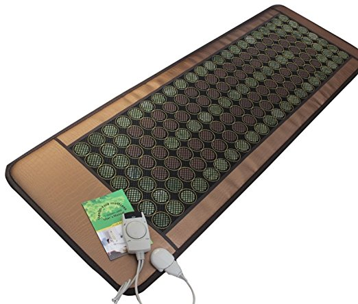 "Healthyline Natural Jade & Tourmaline Mat (72""L X 24""W) Negative Ions / Fir / Far-Infrared / Multi Heat & Energy Therapy Healing Pad - Infrared Heat"
