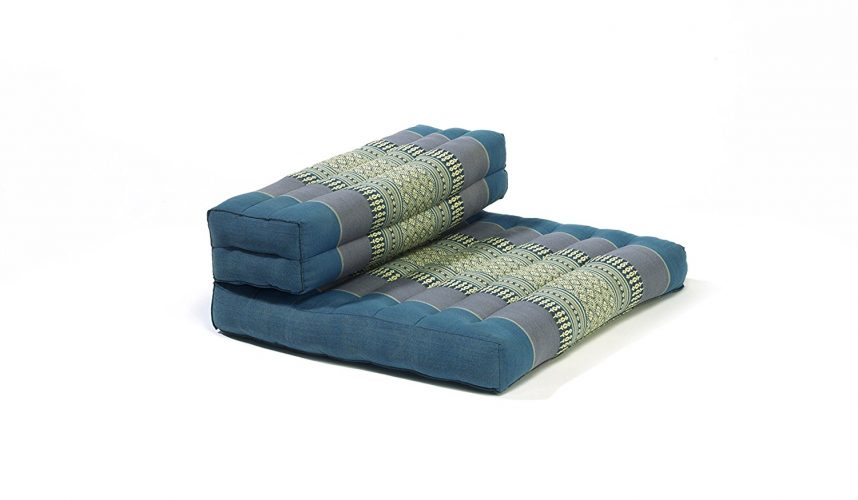 My Zen Home Dhyana Meditation Cushion, Blue/Black -