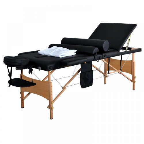 "New 84""L 3 Fold Massage Table Portable Facial Bed W/ Sheet Bolsters Carry Case 3 - Portable Massage Tables"