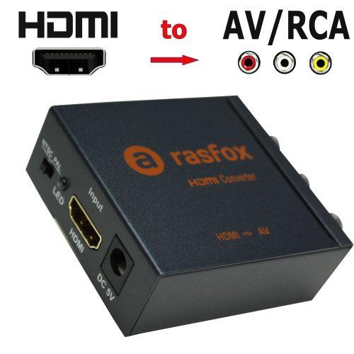 RASFOX HDMI to AV-HDMI to RCA Converters