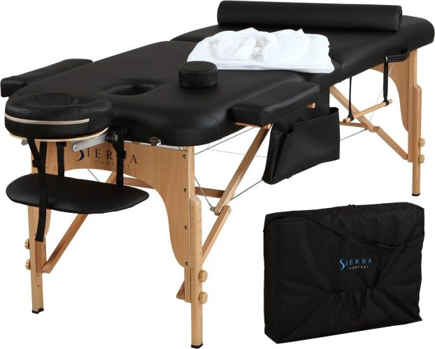 Sierra Comfort All-Inclusive Portable Massage Table - Portable Massage Tables