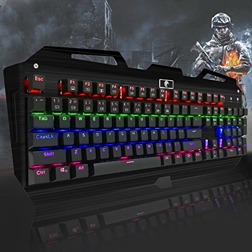The KingTop Anti-Ghosting Backlit Wired Keyboard-Backlit Keyboards