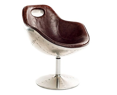 Urban9-5 Aviator Swivel Chair, Brown - Egg Chair