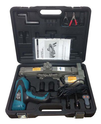 """2 Ton 12V Electric Scissor Car Jack + 1/2"""" Impact Wrench Lift Lifting Kit COMBO - Electric Car Jacks"""