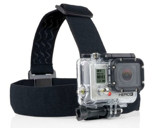 ProGear Adjustable Elastic Strap Head Mount With Anti-Slide For GoPro Hero 4/3+/3/2/1 - Best GoPro Head Mount