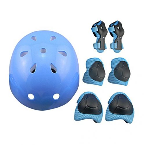7Pcs Sports Protective Gear for Kids, RuiyiF Elbow Pads Knee Pads with Wrist Guard and Helmet for Multi Sports: Cycling Skateboard Bicycle Scooter Roller Skate - Bike Helmets For Kids