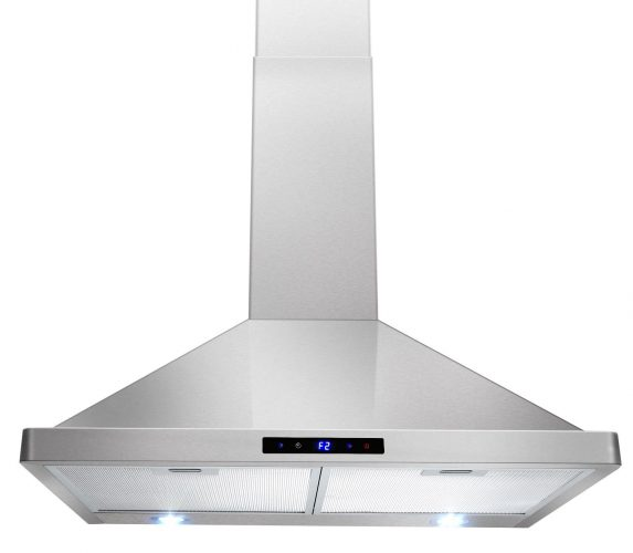 "AKDY 30"" Kitchen Wall Mount Stainless Steel Touch Panel Control Range Hood AZ63175S Stove Vents - Range Hoods"