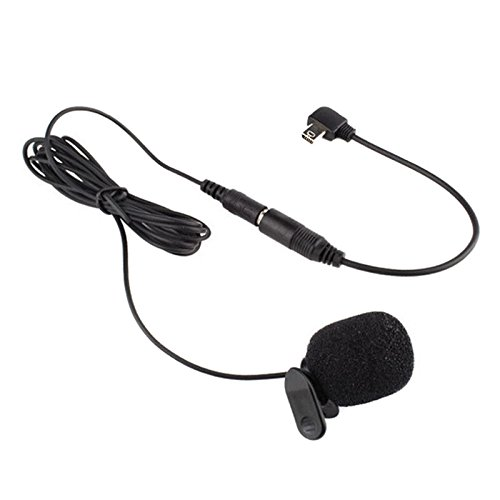AceList Professional Mini USB External Microphone with Collar Clip for GoPro Hero 3 3+ 4 - GoPro External Microphone