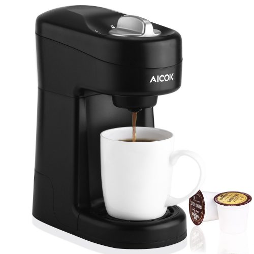 Aicok Single Serve Coffee Maker, Coffee Machine for Most Single Cup Pods Including K-Cup Pods, Quick Brew Technology, CM805 - Single Cup Maker
