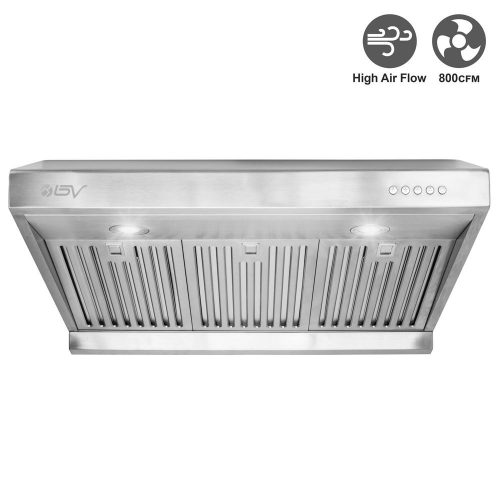 "BV Stainless Steel 30"" Under Cabinet High Airflow (800 CFM) Ducted Range Hood with LED Lights - Range Hoods"