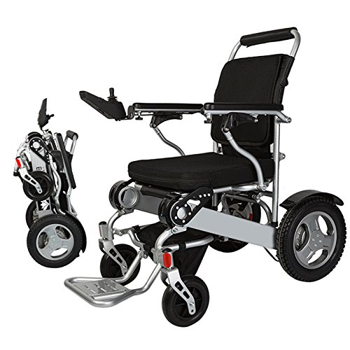 Bangeran Lightweight 58 lbs only Heavy Duty Supports 360 lbs Aircraft Grade Aluminum Alloy Frame Foldable Wheelchair Electric Power Propelled - Electric Wheelchairs