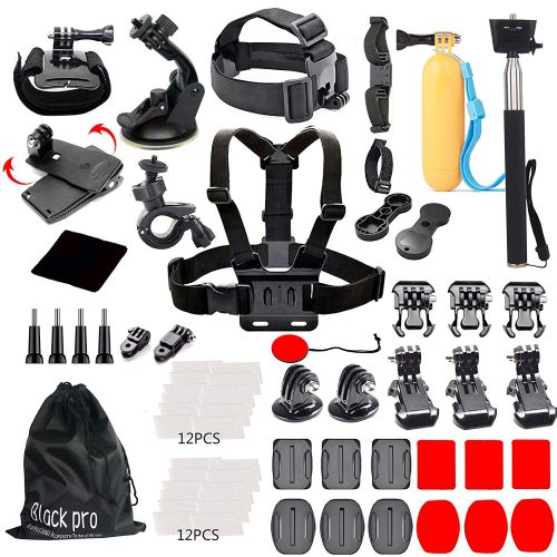 Black Pro Basic Common Outdoor Sports Kit for GoPro
