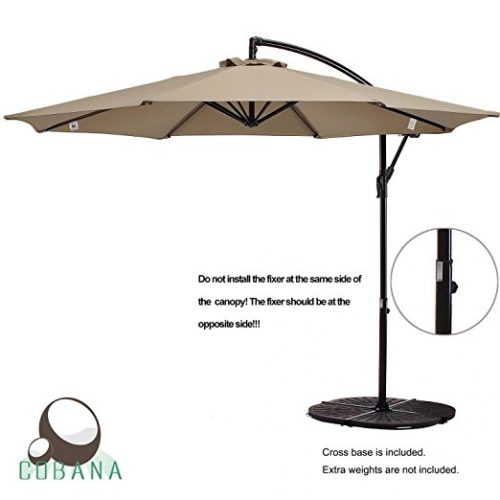 COBANA 10 Ft Patio Umbrella Offset Hanging Umbrella   Offset Patio Umbrellas