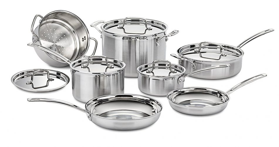Cuisinart MCP-12N Multiclad Pro Stainless Steel 12-Piece Cookware Set - pots pans sets