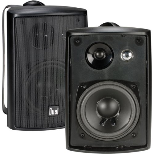 Dual Electronics LU43PB 4 inch 3-Way High Performance Indoor, Outdoor & Bookshelf Studio Monitor Speakers with Swivel Brackets & 100 Watts Peak Power - Bookshelf speakers