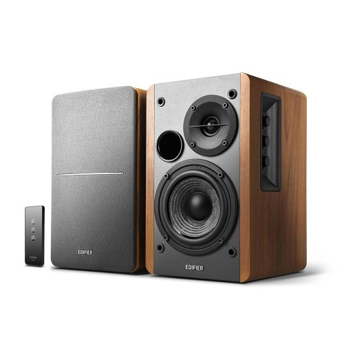Edifier R1280T Powered Bookshelf Speakers - 2.0 Active Near Field Monitors - Studio Monitor Speaker - Wooden Enclosure - 42 Watts RMS - Bookshelf speakers