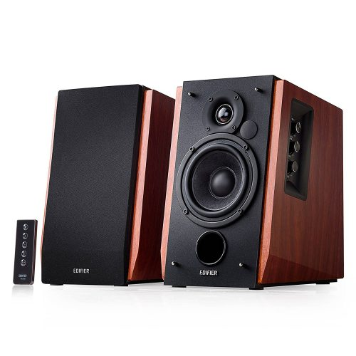 Edifier R1700BT Bluetooth Bookshelf Speakers - Active Near-field Studio Monitors - Powered Speakers 2.0 Setup Wooden Enclosure - 66w RMS - Bookshelf speakers