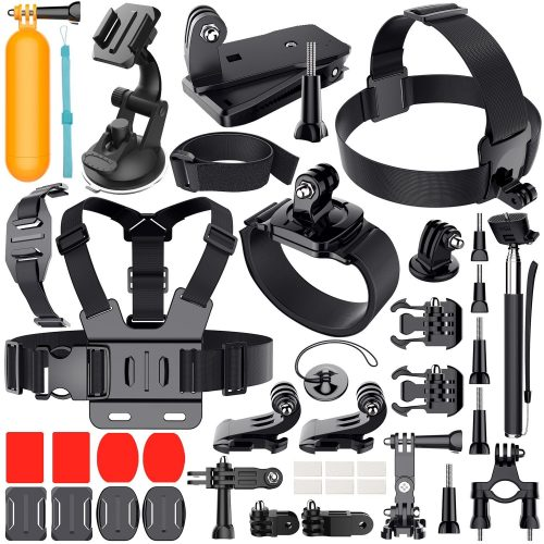 Erligpowht Outdoor Sports Combo Kit 40 accessories for GoPro HERO 4/3+/3/2/1 - Best GoPro Head Mount