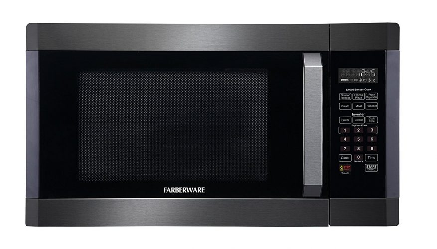 Farberware Black FMO16AHTBSA 1.6 Cubic Foot 1300-Watt Microwave Oven - Over the Range Microwaves