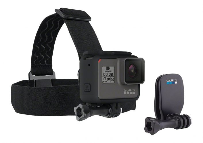 GoPro Headstrap Mount + Quick Clip (GoPro Official Mount) - GoPro Helmet Mount