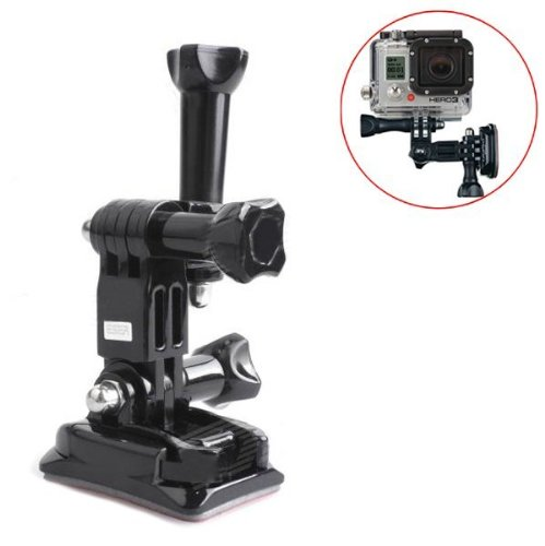 Goliton® Sports camera helmet side mount stabilizer adapter kit for GoPro Hero4/3+/3/2/1 – Black - GoPro Helmet Mount
