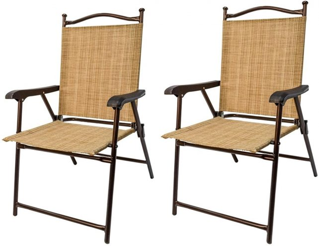 Greendale Home Fashion Outdoor Sling Back Chairs, Set of 2 - Patio Chairs