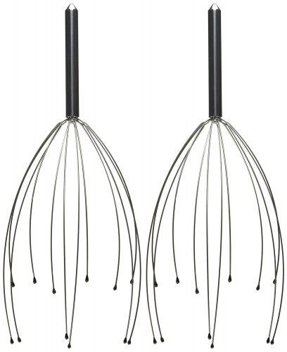 Head Massager Therapy Stainless Wire Hand Held Head Scalp Massager- 2 Pack - head massager