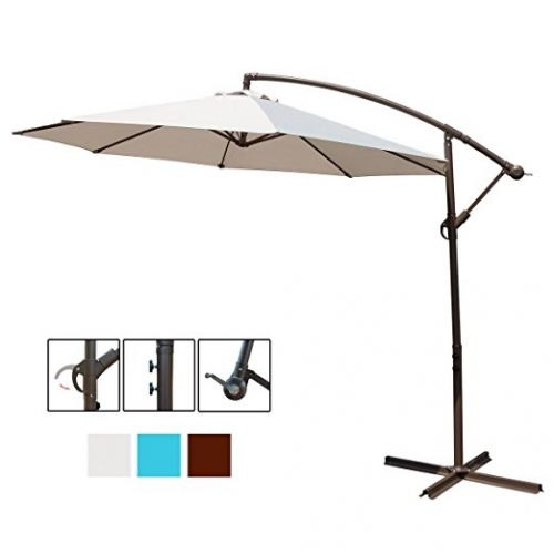 HollyHOME 10 Ft Patio Umbrella Offset Hanging Umbrella Outdoor - Offset Patio Umbrellas