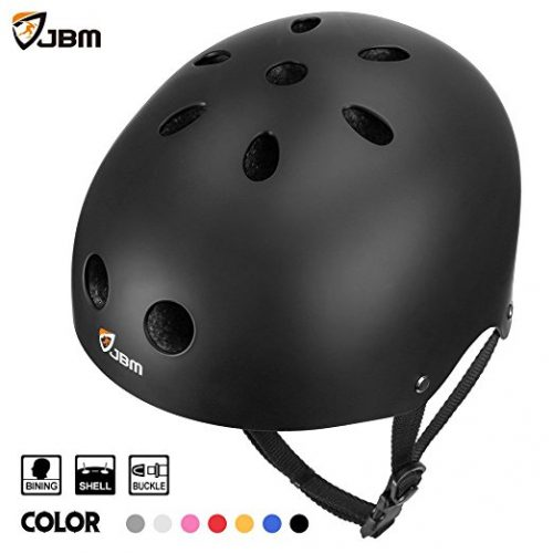 JBM Skateboard Helmet CPSC ASTM Certified Impact resistance Ventilation for Multi-sports Cycling Skateboarding Scooter Roller Skate Inline Skating Rollerblading Longboard - Bike Helmets For Kids